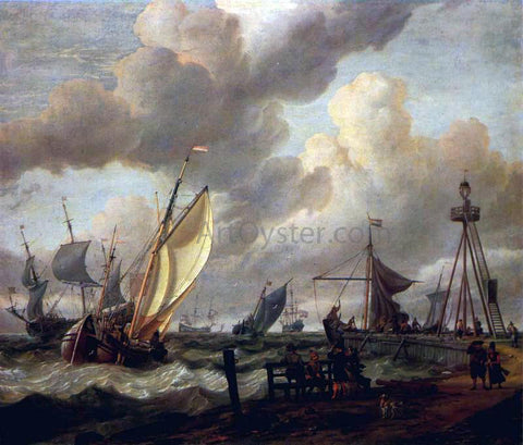 Abraham Storck Shipping - Hand Painted Oil Painting
