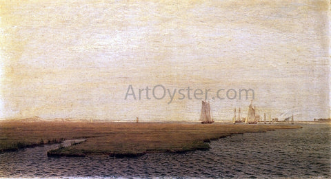 William Trost Richards Ships in the Inlet, Atlantic City - Hand Painted Oil Painting