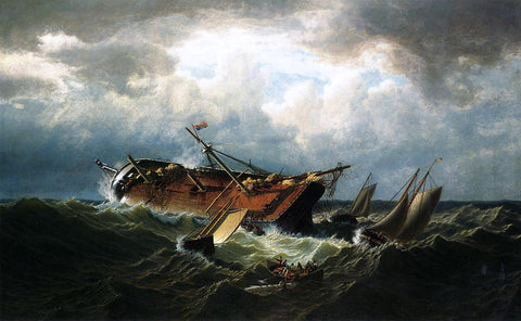 William Bradford Shipwreck off Nantucket (also known as Wreck off Nantucket, after a Storm) - Hand Painted Oil Painting