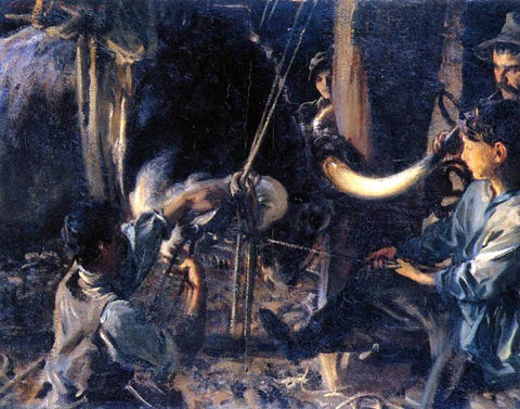 John Singer Sargent Shoeing the Ox - Hand Painted Oil Painting