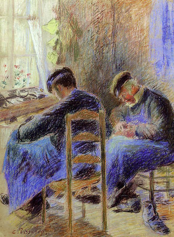 Camille Pissarro Shoemakers - Hand Painted Oil Painting