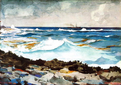 Winslow Homer Shore and Surf - Hand Painted Oil Painting