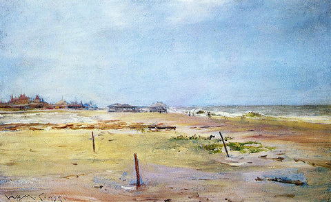 William Merritt Chase Shore Scene - Hand Painted Oil Painting