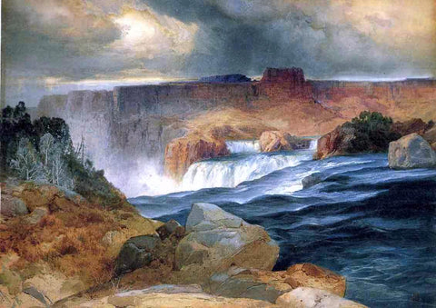 Thomas Moran Shoshone Falls, Idaho - Hand Painted Oil Painting