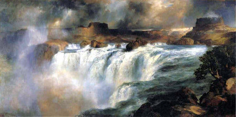 Thomas Moran Shoshone Falls on the Snake River - Hand Painted Oil Painting