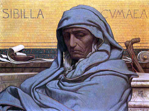 Elihu Vedder Sibilia Cumaea - Hand Painted Oil Painting