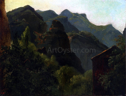 Theodore Rousseau Side of the Valley of Saint-Fincent (Auvergne) - Hand Painted Oil Painting