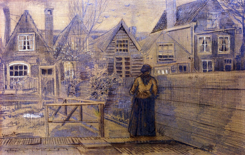 Vincent Van Gogh Sien's Mother's House Seen from the Backyard - Hand Painted Oil Painting