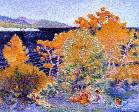 Henri Edmond Cross Siesta by the Water - Hand Painted Oil Painting