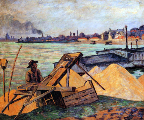 Armand Guillaumin Sifting Sand - Hand Painted Oil Painting
