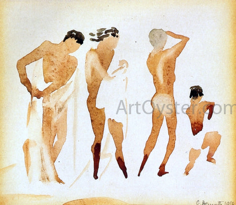 Charles Demuth Simi-Nude Figures - Hand Painted Oil Painting