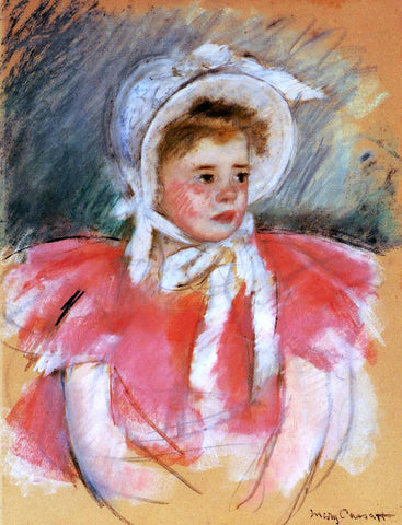 Mary Cassatt Simone in White Bonnet Seated with Clasped Hands (no.1) - Hand Painted Oil Painting