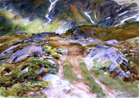 John Singer Sargent Simplon Pass; The Foreground - Hand Painted Oil Painting
