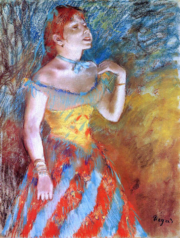 Edgar Degas A Singer in Green - Hand Painted Oil Painting