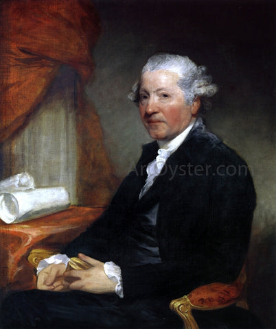 Gilbert Stuart Sir Joshua Reynolds - Hand Painted Oil Painting