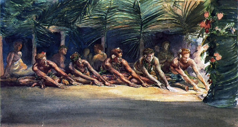 John La Farge Siva Dance at Night (also known as A Samoan Dance) - Hand Painted Oil Painting