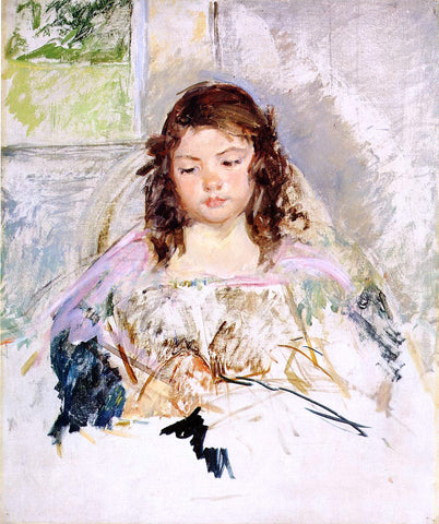 Mary Cassatt Sketch for 'Francoise in a Round-Backed Chair, Reading - Hand Painted Oil Painting