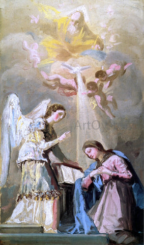 Francisco Jose de Goya Y Lucientes Sketch for The Annunciation - Hand Painted Oil Painting