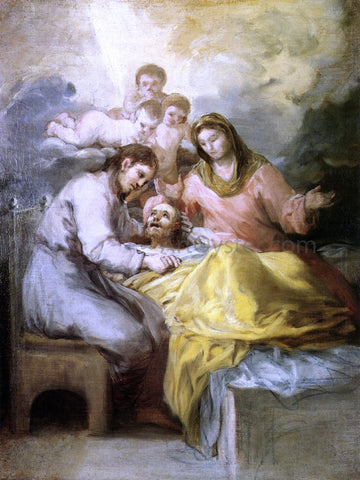 Francisco Jose de Goya Y Lucientes Sketch for The Death of Saint Joseph - Hand Painted Oil Painting