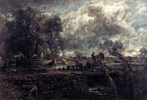 John Constable Sketch for The Leaping Horse - Hand Painted Oil Painting