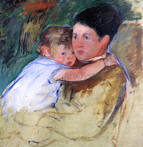 Mary Cassatt Sketch of Anne and Her Nurse - Hand Painted Oil Painting