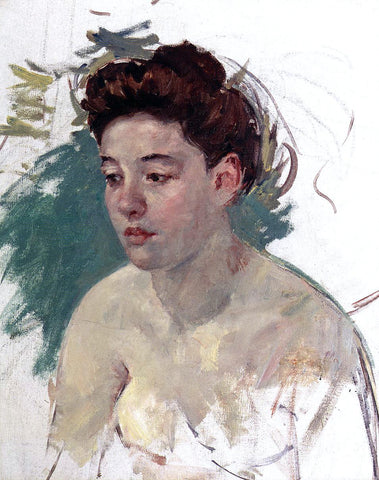 Mary Cassatt Sketch of Antoinette (no.1) - Hand Painted Oil Painting