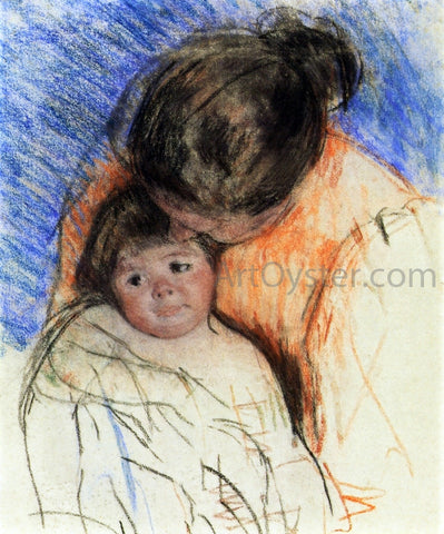 Mary Cassatt Sketch of Mother Looking down at Thomas - Hand Painted Oil Painting