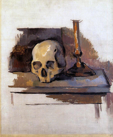 Paul Cezanne Skull - Hand Painted Oil Painting