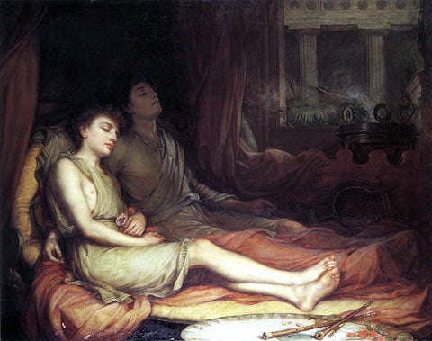 John William Waterhouse Sleep and His Half-Brother Death - Hand Painted Oil Painting