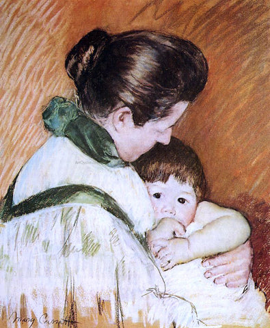 Mary Cassatt Sleepy Thomas Sucking His Thumb - Hand Painted Oil Painting