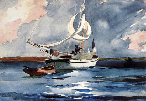 Winslow Homer Sloop, Nassau - Hand Painted Oil Painting