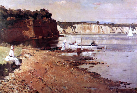 Tom Roberts Slumbering Sea, Mentone - Hand Painted Oil Painting