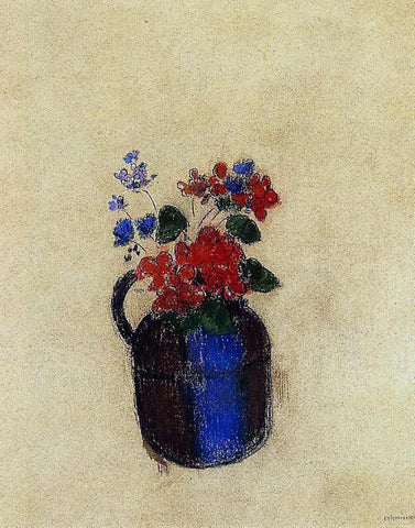 Odilon Redon Small Bouquet in a Pitcher - Hand Painted Oil Painting