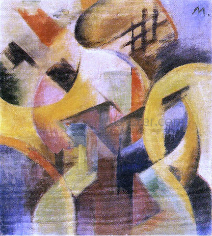 Franz Marc Small Composition I - Hand Painted Oil Painting
