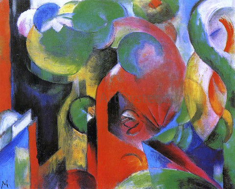 Franz Marc Small Composition III - Hand Painted Oil Painting