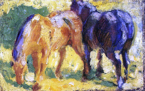 Franz Marc Small Horse Picture - Hand Painted Oil Painting