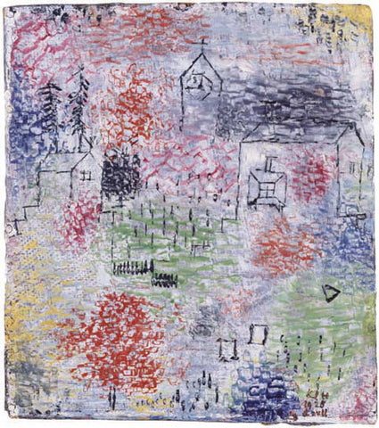 Paul Klee Small Landscape with the Village Church - Hand Painted Oil Painting