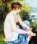 Pierre Auguste Renoir Small Nude in Blue - Hand Painted Oil Painting