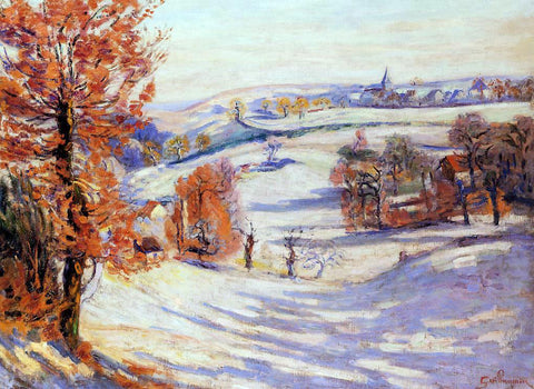 Armand Guillaumin Snow at Crozant - Hand Painted Oil Painting