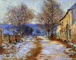 Claude Oscar Monet A Snow Effect at Limetz - Hand Painted Oil Painting