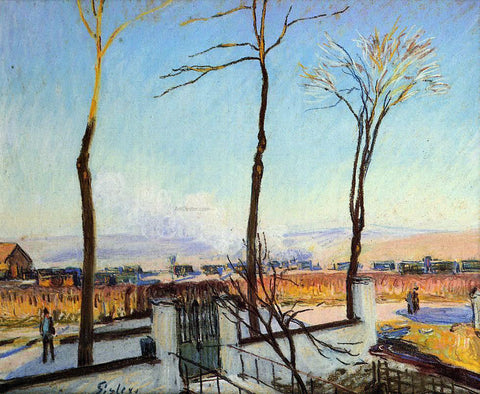 Alfred Sisley Snow Effect at Moret - Hand Painted Oil Painting