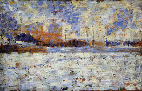 Georges Seurat Snow Effect: Winter in the Suburbs - Hand Painted Oil Painting