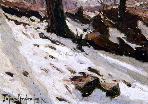 Julian Onderdonk Snow near the Cave, Central Park, New York - Hand Painted Oil Painting