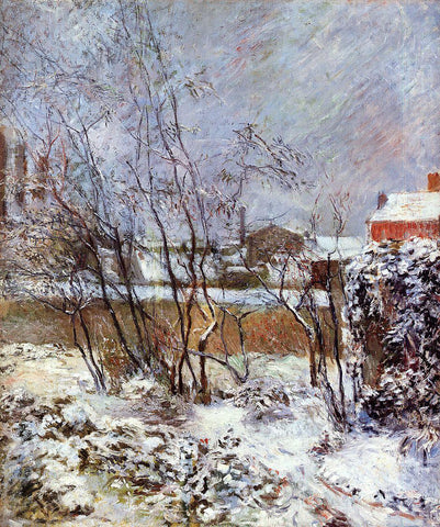 Paul Gauguin Snow, Rue Carcel - Hand Painted Oil Painting