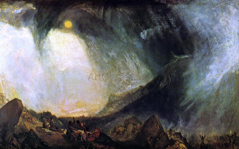 Joseph William Turner Snow Storm: Hannibal and His Army Crossing the Alps - Hand Painted Oil Painting