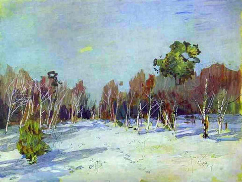 Isaac Ilich Levitan Snowbound Garden - Hand Painted Oil Painting