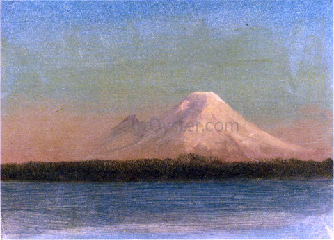 Albert Bierstadt Snow-Capped Mountain at Twilight - Hand Painted Oil Painting