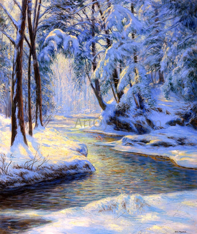 Walter Launt Palmer Snowy Landscape with Brook - Hand Painted Oil Painting
