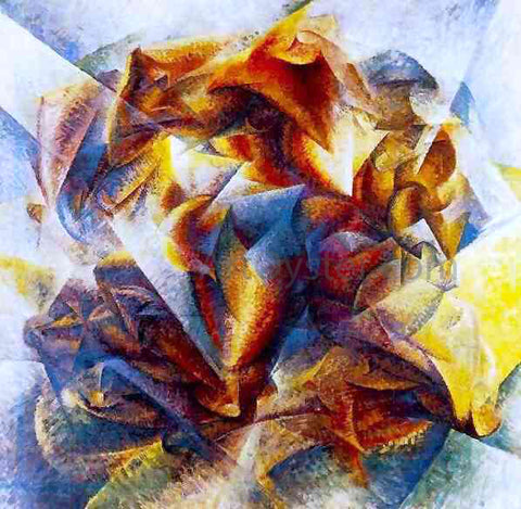 Umberto Boccioni Soccer (also known as Dynamic Action Image) - Hand Painted Oil Painting