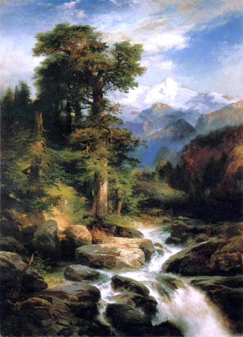 Thomas Moran Solitude - Hand Painted Oil Painting